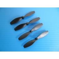 Lot de 4 hélices noires 45mm pour FLOUREON H101