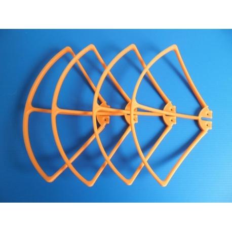 Lot de 4 protections neuves oranges pour hélices de Syma X8