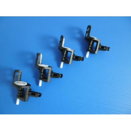 Lot de 4 supports moteurs neufs avec axes, couronnes et pignons