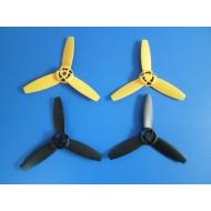 Lot de 4 hélices neuves noires et jaunes pour Parrot Bebop